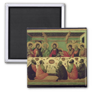The Last Supper, from the Passion Altarpiece Square Magnet