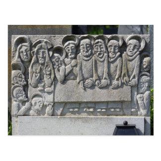 The Last Supper Gravestone Postcard