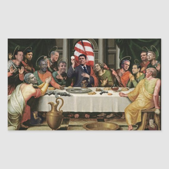 The Last Supper of the Republican Party Rectangular Sticker