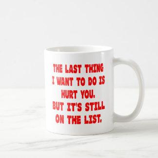 The Last Thing I Want To Do Is Hurt You Basic White Mug