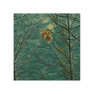 The Last To Fall Wood Wall Art