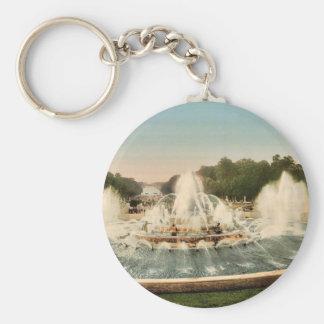The Latone Basin, II, Versailles, France vintage P Keychain