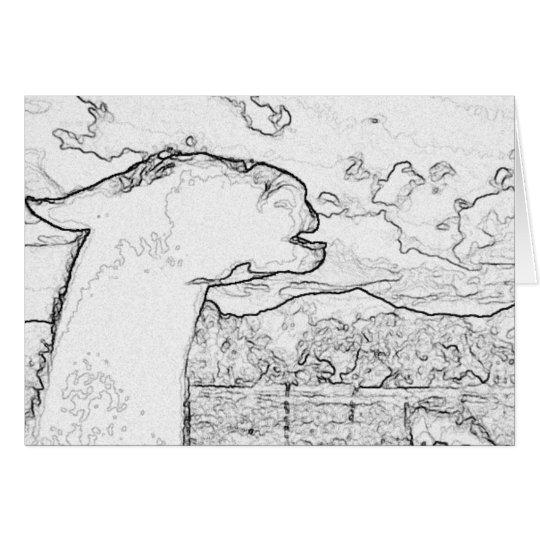 The Laughing Llama Card