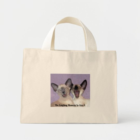The Laughing Siamese blue striped tote bag by Lisa