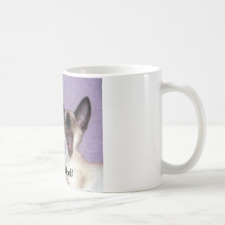 "The Laughing Siamese ""Who Fluffed"" Mug"