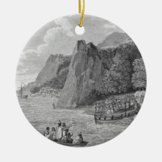 The Launch of the North West America at Nootka Sou Christmas Ornament