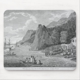 The Launch of the North West America at Nootka Sou Mouse Mat
