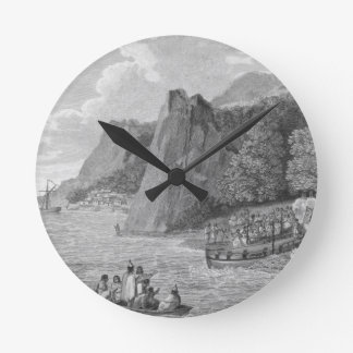 The Launch of the North West America at Nootka Sou Round Clock