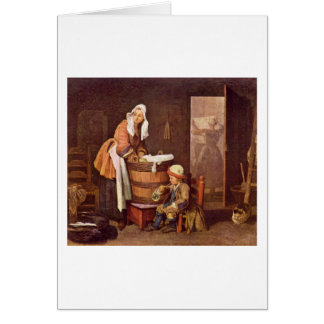 The Laundress By Jean-Baptiste Simeon Chardin Cards