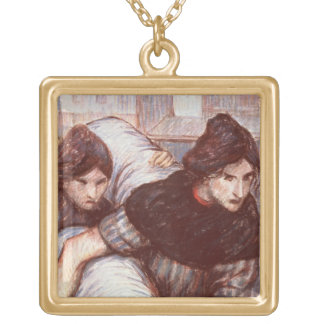 The Laundresses, 1898 (pastel on canvas) Gold Plated Necklace