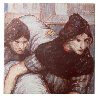 The Laundresses, 1898 (pastel on canvas) Tile