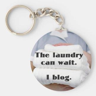 The Laundry can wait. I blog. Basic Round Button Key Ring