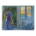 The Laundry Woman Looking at Washboard Postcard
