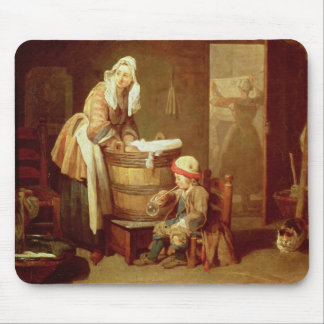 The Laundry Woman Mouse Mat