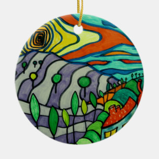 the Lavender fields Christmas Ornament