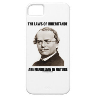 The Laws Of Inheritance Are Mendelian In Nature Barely There iPhone 5 Case