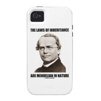 The Laws Of Inheritance Are Mendelian In Nature Vibe iPhone 4 Case