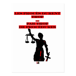 The Lawsuits Last too much per too many Procedures Postcard
