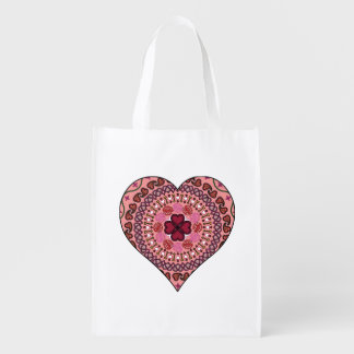 The Layers of the Heart Reusable Grocery Bag Grocery Bags