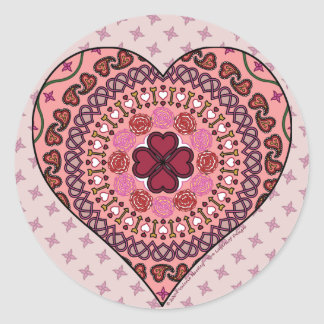 The Layers of the Heart Sticker