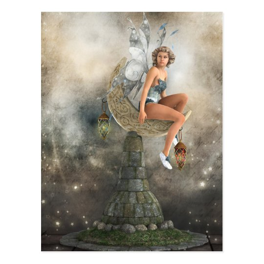 The Lazy Moon Fairy Postcard