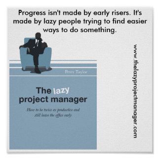 The Lazy Project Manager Poster