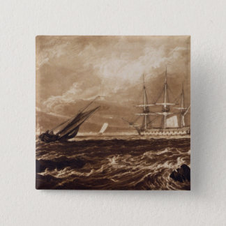 The Leader Sea Piece, engraved by Charles Turner ( 15 Cm Square Badge