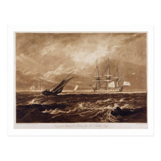 The Leader Sea Piece, engraved by Charles Turner ( Postcard