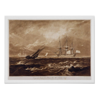 The Leader Sea Piece, engraved by Charles Turner ( Poster