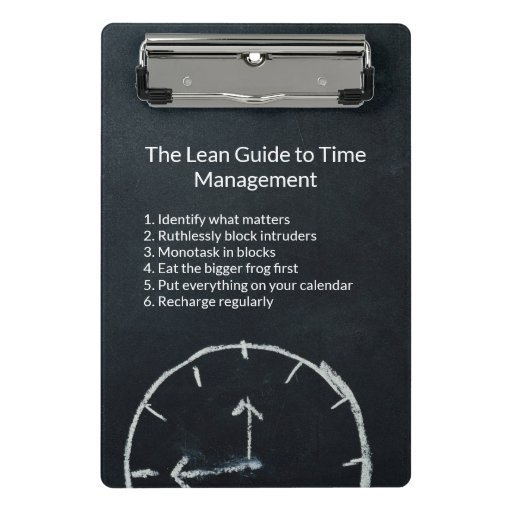 The Lean Guide to Time Management Mini Clipboard