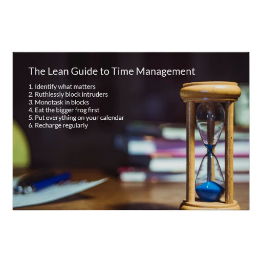 The Lean Guide to Time Management Poster