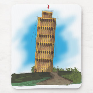 The Leaning tower of Pisa, Italy Mouse Pad