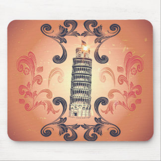 The leaning tower of Pisa Mousepad