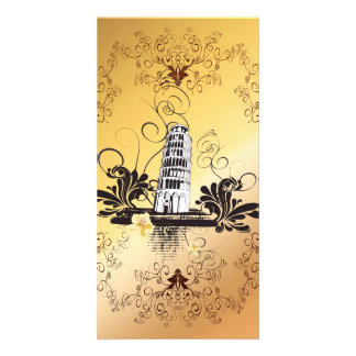 The leaning tower of Pisa Personalized Photo Card