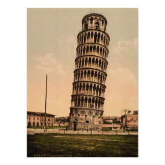 The Leaning Tower of Pisa, Tuscany, Italy Poster