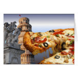 The Leaning Tower of Pizza (Pisa) Greeting Card