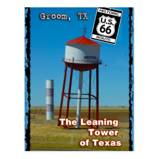 The Leaning Tower of Texas in Groom - Highway 66 Postcard