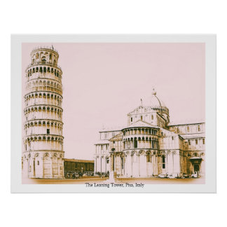 The Leaning Tower Pisa Italy Poster