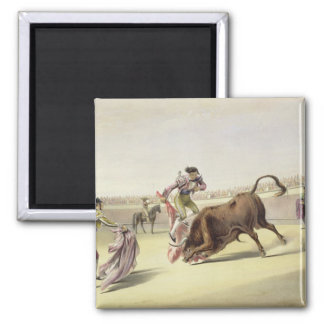 The Leap or Salta Tras Cuernos, 1865 (colour litho Magnet