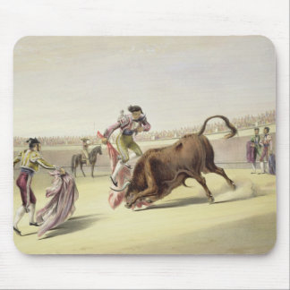 The Leap or Salta Tras Cuernos, 1865 (colour litho Mouse Mat