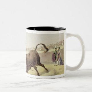 The Leap or Salta Tras Cuernos, 1865 (colour litho Two-Tone Coffee Mug