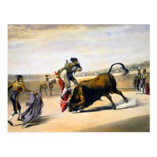 The Leap or Salta Tras Cuernos Postcard