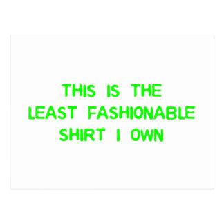 The least fashionable shirt I own Postcard