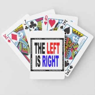 The Left is Right Bicycle Poker Cards