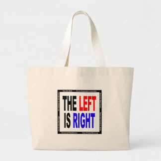 The Left is Right Canvas Bag