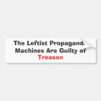 The Leftist Propaganda Machines Are Guilty of Bumper Sticker