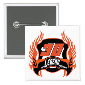 The Legend 30th Birthday Gifts 15 Cm Square Badge