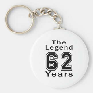 The Legend 62 Years Birthday Gifts Key Chains