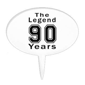 The Legend 90 Years Birthday Gifts Cake Pick