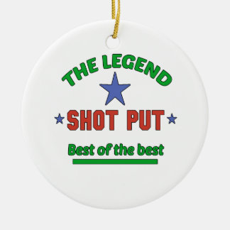 The Legend Of Shot Put Round Ceramic Decoration